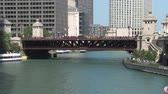 pontes : Chicago River Time Lapse Stock Footage