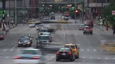 автомобиль : Chicago Downtown Traffic - Time Lapse Стоковые видеозаписи