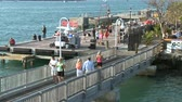 chaves : Key West Florida - Time Lapse of people and boats