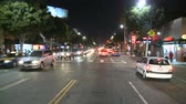 mounted : Car Mounted Driving Camera Night Drive - Hollywood - Time Lapse