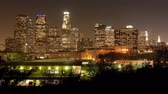 apartamentos : Time Lapse of Downtown Los Angeles at Night Stock Footage