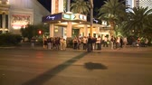 cassino : Las Vegas People at Night  - Time Lapse Stock Footage