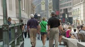 semt : Crowds of people on Wall Street NYC - Time Lapse Stok Video