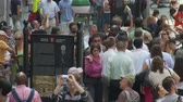 semt : Time Lapse of Crowd at Wall Street Stok Video