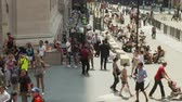 semt : Crowds on Wall Street NYC - Time Lapse Stok Video