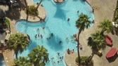 podróże : Vegas Pool People from Above Wideo