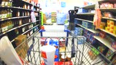 kordé : Time Lapse of Shopping Cart and Shopping Stock mozgókép