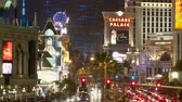 pôquer : Zoom out of Las Vegas Strip - Time Lapse
