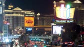 уличный свет : Zoom out of Las Vegas Strip - Time Lapse