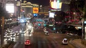 cassino : Time Lapse of Las Vegas Strip Casinos at Night Stock Footage