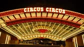 gamble : Famous Circus Circus Hotel in Las Vegas Stock Footage