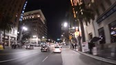 mounted : Famous Hollywood California at Night