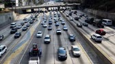 congestionamento : Busy Harbor Freeway in Downtown Los Angeles