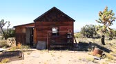 Abandon Home in the Mojave Desert Stock Footage
