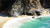 overlooking : Scenic McWay Falls Beach, Big Sur California