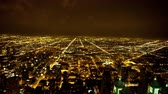 grade : Time Lapse View of Chicago Skyline at Night -  4K - 4096x2304 Stock Footage