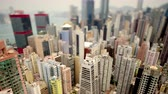 финансы : Tilt Shift  Time Lapse of Hong Kong Skyline and Victoria Harbour - Hong Kong China Стоковые видеозаписи