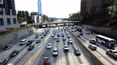 congestionamento : Time Lapse of Traffic Jam in Downtown Los Angeles - 4K Vídeos