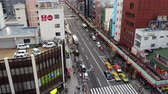 asiáticos : Time Lapse - View of Traffic on Busy Boulevard from Above - Tokyo Japan Vídeos