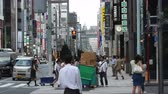 nowoczesne : Time Lapse of Pedestrians in the Busy Ginza Shopping District  -  Tokyo Japan