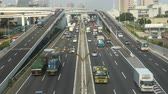 exportação : Time Lapse of Heavy Truck Traffic on Japanese Highway -   Tokyo Japan