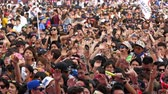 vinil : Large Crowd at Electronic Music Festival - Tokyo Japan