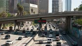 congestionamento : Time Lapse of Rush Hour Traffic in Downtown Los Angeles