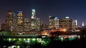 costruzioni : Time Lapse di Downtown Los Angeles at Night - 4K - 4096x2304