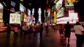 vezes : NYC Times Square Time Lapse - 4K Stock Footage