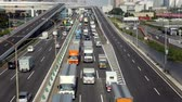 csak : Time Lapse of Heavy Truck Traffic on Japanese Highway -   Tokyo Japan