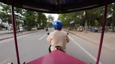 Time Lapse of Tuk Tuk Taxi Driver in Siam Reap Angkor Wat Stock Footage