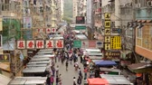 corner : Time Lapse of Busy Mong Kok Market in Hong Kong China