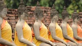 meditation : Zoom Out - Statue of Dressed Buddha Stock Footage