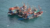 deep sea shrimps : Fishing Boats off the Coast of Phuket Thailand