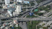 asiáticos : Time Lapse of Highway Traffic in Bangkok Thailand Vídeos