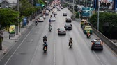 asiáticos : Time Lapse of City Traffic - Downtown Bangkok Thailand Vídeos
