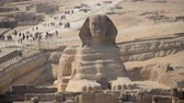 mammal : Time Lapse Zoom Out of the Sphinx Daytime at Giza - Egypt Stock Footage