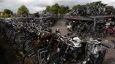 Time Lapse of Bike Park at Central Station - The Hague Netherlands