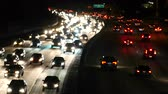 congestionamento : Traffic on the 101 Freeway in Los Angeles - Night Vídeos
