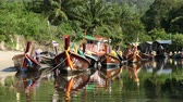 file : Colorful Boats in Small Village in Phuket Thailand