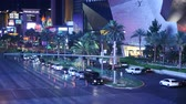 pecado : Time Lapse of Busy Las Vegas Boulevard at Night