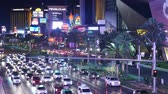 pecado : Busy Casino Traffic on the Las Vegas Strip - Night