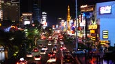 kasino : Busy Casino Traffic on the Las Vegas Strip - Night