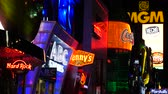 kasino : Colorful Neon Advertising Lights at Night - Las Vegas