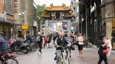 tranças : Asian Chinese Gate in Downtown Den Hague - The Hague Netherlands