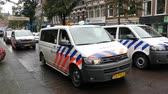 Dutch Police Cars Protesting  Working Conditions - The Hague Netherlands