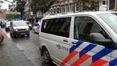 Dutch Police Vans & Police  Protesting  Working Conditions - The Hague