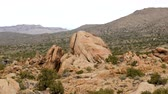 Large Finger Rock in the Mojave Desert - California Stock Footage