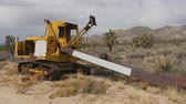 Abandon Mining Crane on the Mojave Desert Stock Footage