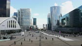 People at La Defense Plaza - Daytime - Paris France